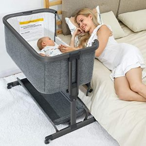 AMKE 3 in 1 co sleeper bassinet that attach to bed