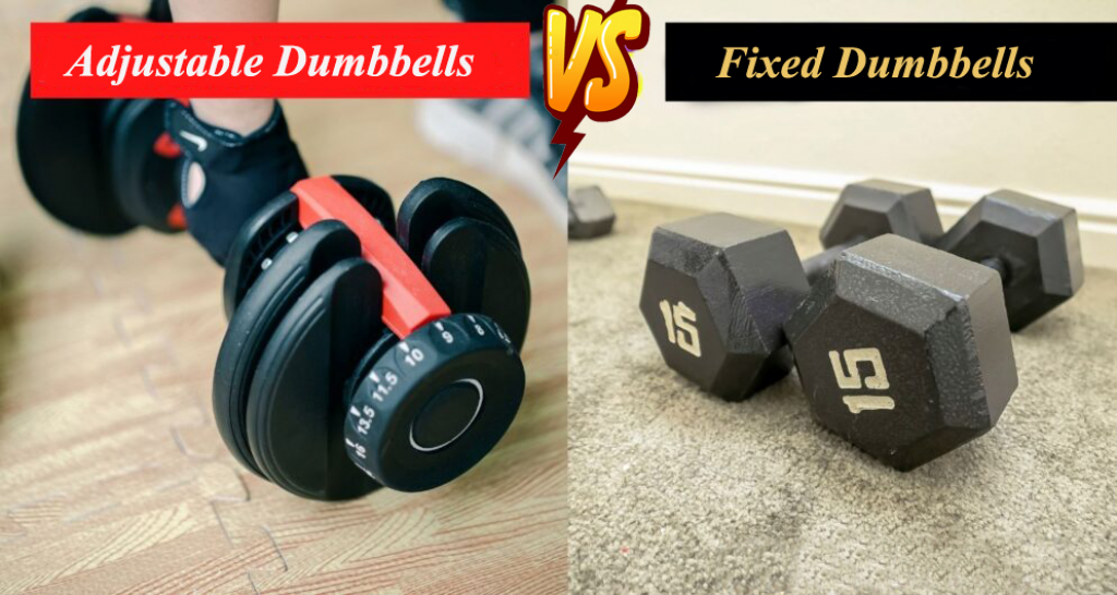 adjustable dumbbell and fix one
