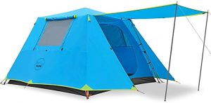 KAZOO Family Camping Tent Large Waterproof Pop Up Tents 3/4 Person Room Cabin Tent Instant Setup with Sun Shade
