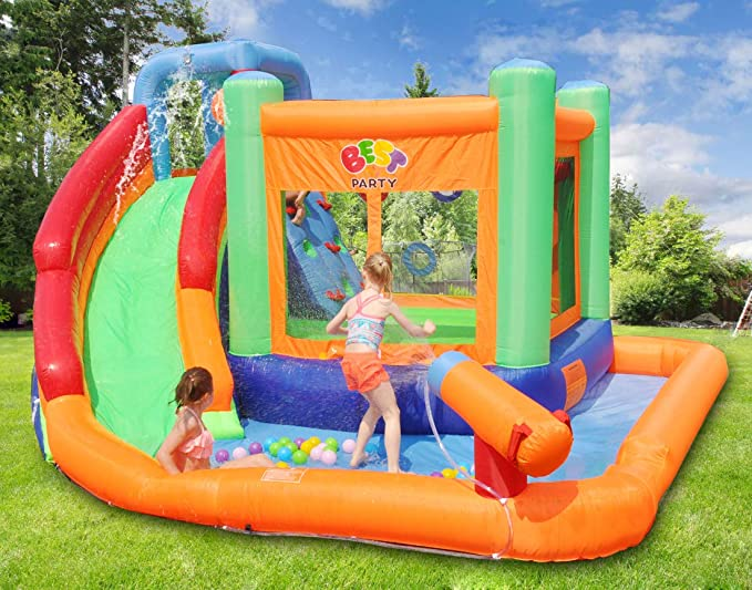 Inflatable Kids Water Slide Spin Combo Jumper Bounce House