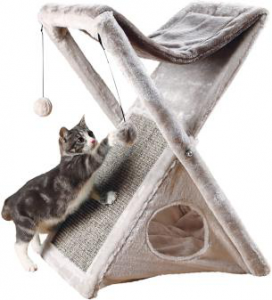 TRIXIE Miguel Fold and Store Cat Hammock Cute Cat Tree