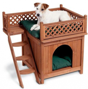 Merry Wooden Dog House With Stairs